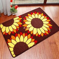 black sunflower - 10pcs area rug floor carpet Factory direct home essential fine sunflowers latest anti skid pad mats