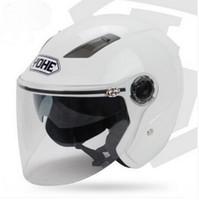 al por mayor l tamaño de casco yohe-YOHE invierno doble lente media cara casco de motocicleta Eterno bicicleta eléctrica moto casco YH837A casco tamaño ML XL XXL 7 colores