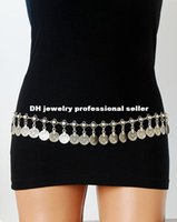 belly dance jewelry - waist jewelry Bohemian Boho Turkish Gypsy Silver Metal Dangle Hippie Flower Coins Shimmy Belt Dance Body Chain Belly Jewelry waist chain
