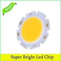 Wholesale 50pcs W Round COB Super Bright LED Chip Light Lamp Bulb Chip Warm White DC15 V