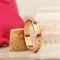 Wholesale Top fashionable New arrivals from Woman Men s rings The Zodiac rose gold titanium steel rings fashion ring high quality hot sale gifts