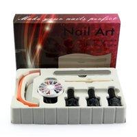 uv gel nail kit with light - set Mini Nail Lamp Light Professional and Colorful LED with UV Gel Nail Art Tools Sets Kits