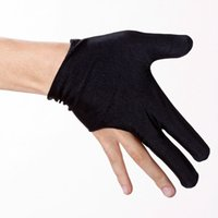 active shooter - set Special Black Billiards Pool Cue Shooters Fingers Elastic Gloves
