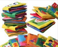 english books - 6 styles Baby cloth book for Early learning education cloth toys baby fabric book in english fit Y E142