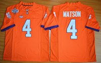 Wholesale Clemson Tigers Jersey Deshaun Watson Jersey Orange Stitched College Football Jerseys Embroidery logos size M XL