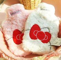 Wholesale Kawaii Hello Kitty Big Bow Cartoon Plush Cotton Cover Hot water Bag Hot Water Bottle Retail TRD