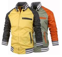brand winter jacket for men - men autumn jacket brand new winter coat for men splicing sleeve design men s casual fashion leather jacket J711K hot