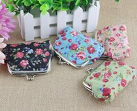 Wholesale Hot sale Small broken flower Coin purse wallet buckles canvas bags