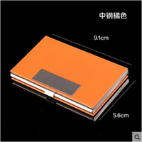 american bank note - High Quality Women Head Layer Genuine Leather Men Business Card Holder Case Box Wallet Bank Credit Card ID holder Wallet Bag