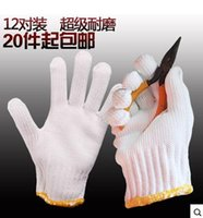 Wholesale gloves thick white cotton yarn labor jobs protective disposable gloves industrial safety line