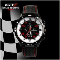 Sport automobile rubber - Wholesales Lobor mens GT watch Grand Touring chronograph rubber watchband vine sports automobile race male watch colors