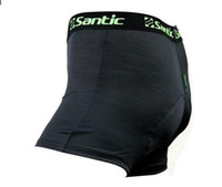 anti choice - New Santic Cycling Underwear Fashion Underpants Hipster Underwear D Padded Bike Bicycle Shorts Choices Black Black Green