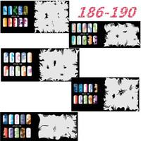 Wholesale 5Psc New Fashion Airbrush Nail Stencils Set Tools Diy Airbrushing Template Sheet for Airbrush Kit Nail Art Paint