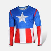 Anime Costumes america states game - 2015 Real Christmas Costumes Carnival Costume United States Captain America Long Sleeve Cosplay Costume Men s New Male Korean