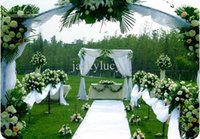 acrylic photo table - 20 m per roll Wedding Decor White Acrylic Fiber Carpet Aisle Runner For Party Backdrop Centerpieces Decorations Supplies
