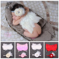 autumn fairy wings - baby fabric flower elastic headbands puffy angel wings costume newborn photography props kids white red fairy feather butterfly wing suit