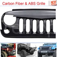 Wholesale Car Styling New Carbon Fiber ABS Carbon Fiber Front Racing grille trims Black for Jeep Wrangler
