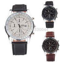 Wholesale new fashion breit ling watch watches men luxury brand wristwatches quartz watch atmos black white casual watch