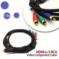 hdmi cable converter to rca cable - 5 feet M HDMI to RCA Cable Video Audio HDMI AV RCA Converter adapter Cabo Kable