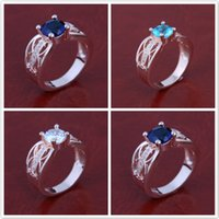 asian suppliers - New Arrival Luxury Austria Crystal Silver Ring Sterling Silver Layer Platinum Plated Silver Ring Supplier