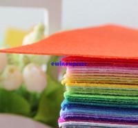 Wholesale 40 set colors Polyester Nonwoven Felt Fabric DIY handmade sewing needlework cloth felt fabrics cm cm