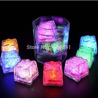 led button light - 48pcs Fantastic Party Wedding Glowing LED Ice Colors Change By Button Control Food Grade LED Light Ice Cubes
