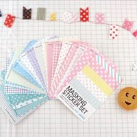 Wholesale 27 Candy color Print Notebook Album Calendar Memo Message Diary Notes Decor Scrapbook Paper Sticker Shipping