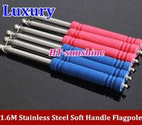 Wholesale 10PCS High Quality m Lighter SOFT handle stainless steel Flagpole Luxury telescopic guide flagpole order lt no track