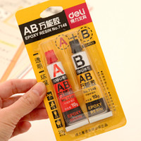 Wholesale 2 set Epoxy resin Contact adhesive Super glue for glass metal ceramic stationery office material school supplies