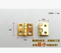 Wholesale 20Pcs Mini Cabinet Drawer Butt Hinge brass small hinge small hole copper hinge With screws A3