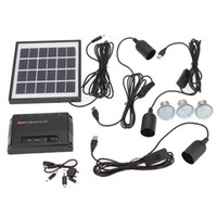 home solar power system - Garden Pathway Stair Camping Fishing USB V Cell Mobile Phone Charger Home System Kit Outdoor Solar Powered LEDs Light Lamp L0333
