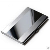 Wholesale 1pcs Exquisite Business Card Holder Man s Stainless Steel ID Credit Card Case Box Factory Prices Hot Sale
