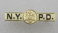 Wholesale NYPD Tie Clip New York Police Department Logo Tie Clasp Bar