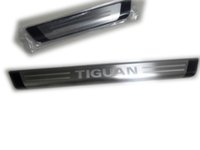 Wholesale Stainless steel plastic door sill scuff plate threshold for Eur Volkswagen VW tiguan