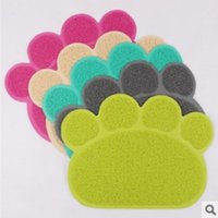 Wholesale cat littler mat dog food mat cat toilet soft mat on paws