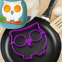 Wholesale In Stock Novel Trendy Silicone Skull Owl SUNNYSIDE UP FRIED Silicone Fried Egg Mold Pancake Egg Cooking Tool egg holder tray