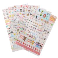 Wholesale Fashion cm PVC Memory Paper Sticker Cartoon Diary Note Book Scrapbooking Decorative Stickers For Notebook