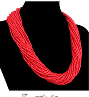 Wholesale New Fashion jewelry bead necklace nigerian wedding african beads seed bead necklace