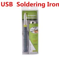 Wholesale Professional USB Soldering Iron Tips V W Electronic Tools Touch Switch With Indicator Light Industrial Supplies MRO Welding ZD U