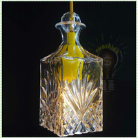 art deco vases - Silicon Rubber crystal glass vase decorative pendant lamp giving edison classical incandescent lights