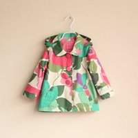 baby ski jackets - Prom baby hooded jacket with flower children kids fashion Ski wear for spring autumn with floral baby clothes