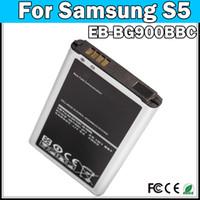 Wholesale For Samsung S5 i9600 phone battery Galaxy S5 battery EB BG900BBC phone battery mah fast shipping