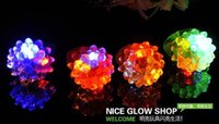 Wholesale Cool Led Light Up Flashing Bubble Ring Rave Party Blinking Soft Jelly Glow