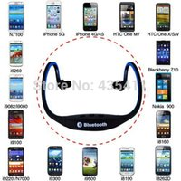 Wholesale Sports Stereo Wireless Bluetooth Headset Earphone Headphone for iPhone s Galaxy S4 Smartphone can listen to music