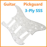 Wholesale High quality Pearl White Tortoise Shell Pickguard Scratch Plate Ply SSS For ST Strat Guitar Pick guard Dropshipping