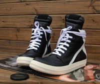 b owens - Original Quality Brand New Owens Geobasket Genuine Leather Sneakers In Black Man White Original Big Size High top Fashion Shoes Boots