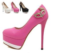 Pompes super mode modèle rose talons strass blanc mariée mariage taille femme talons hauts de 14cm 34-39