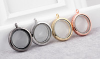 Wholesale 10 multi color optional mm round magnetic smooth glossy charm pendant floating locket glass box pendant