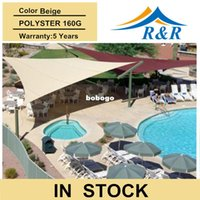 Wholesale 2014 hot selling m sun shade sail Beige waterproof cover Polyester fabric