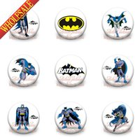 batman brooch - New Novelty styles Batman Cartoon Brooch Badges brooch pins MM fashion Buttons pins badges party gift Kids Love Collection Gifts